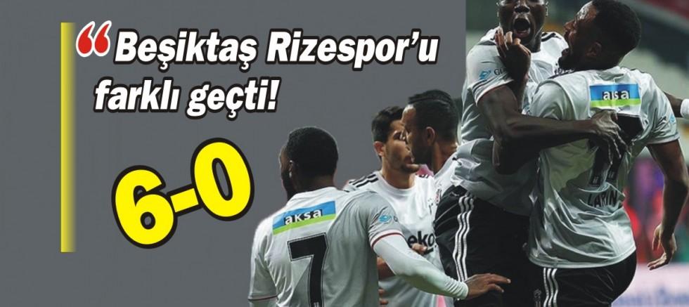 Beşiktaş Rizespor'u farklı geçti!