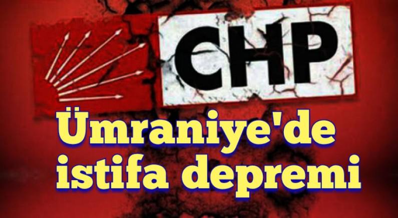 CHP Ümraniye'de istifa depremi