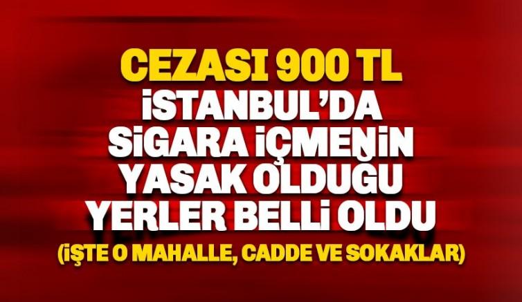İstanbul'da sigara içmenin yasaklandığı cadde ve sokaklar belli oldu