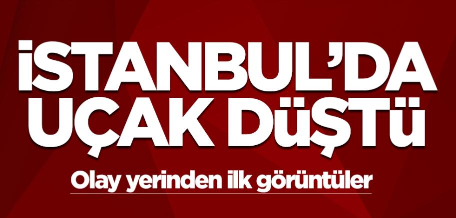İstanbul'da uçak düştü