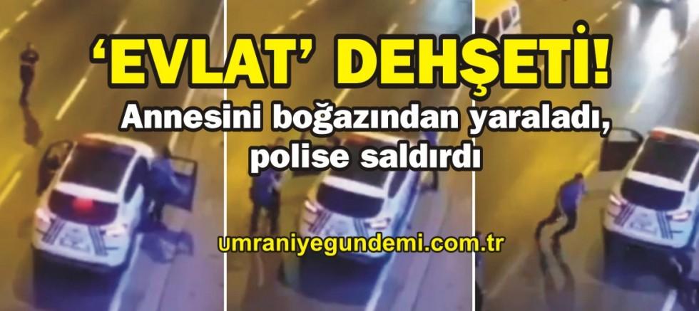 Ümraniye'de annesini bıçakladı, polise saldırdı