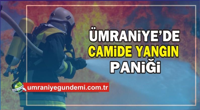 Ümraniye'de camide yangın paniği