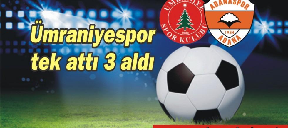 Ümraniyespor, Adanaspor'u 1-0 mağlup etti.