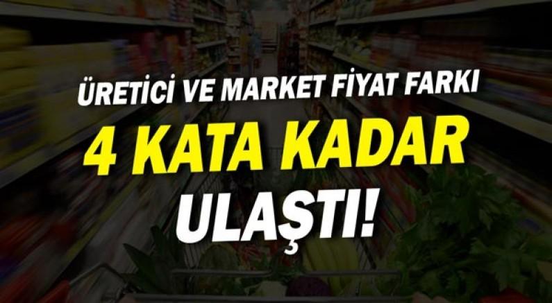Üretici ve market fiyat farkı 4 kata ulaştı!